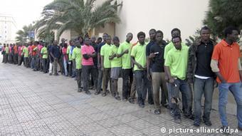 Flüchtlinge in Melilla 24.02.2014