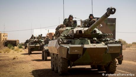 A french army tank in Mali