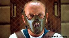 Hannibal Lecter in the film version of Silence of the Lambs