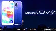 Mobile World Congress in Barcelona Samsung Galaxy S5