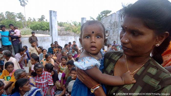 Sri Lanka Mutter mit Kind