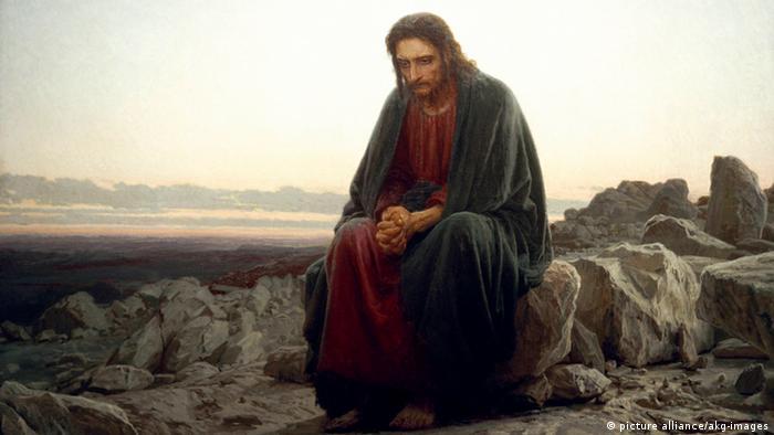 Christus in der Wüste, Gemälde von Iwan Nikolajewitsch Kramskoi (1837-1887) - Foto: picture alliance/akg-images