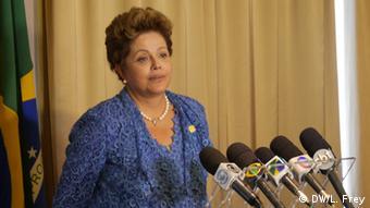 Dilma Rousseff (photo: Luisa Frey/DW)
