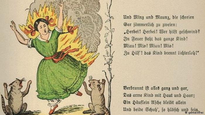 Zeichnung des brennenden Paulinchens aus Struwwelpeter (Foto: gemeinfrei)