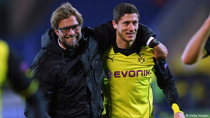 Jürgen Klopp won't have an arm around Robert Lewandowski in Madrid as the Polish striker is suspended.