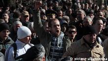 Ukraine Demonstration auf dem Krim Simpheropol