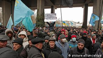 Ukraine, anti-Russian demonstrations in Simferopol
