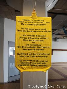 Spam poetry Spam poetry written on a yellow pullover