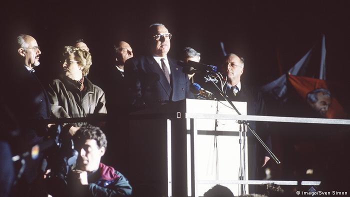 Гельмут Коль у Дрездені в 1989 році