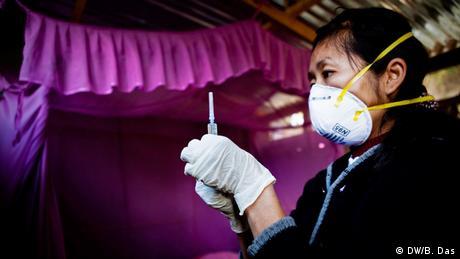 Bekämpfung von TB in Indien und die Behandlung von betroffenen Patienten