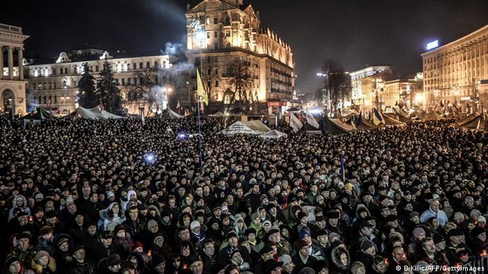 Киев, протест на Майдане, январь 2014 год