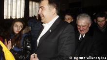 ITAR-TASS: KIEV, UKRAINE. FEBRUARY 26, 2014. Former Georgian president Mikhail Saakashvili at Kiev Mohyla Academy. (Photo ITAR-TASS / Maxim Nikitin)