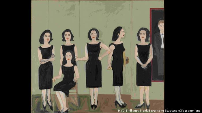 Painting Little Black Dress by Alex Katz