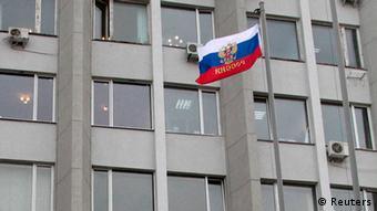 Ruska zastava je postavljena na zgradu parlamenta na Krimu