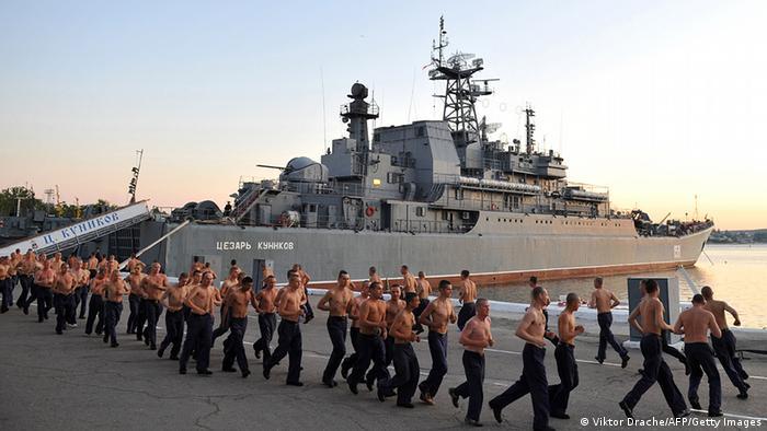 Russland Ukraine Krim Schwarzmeerflotte Hafen von Sewastopol