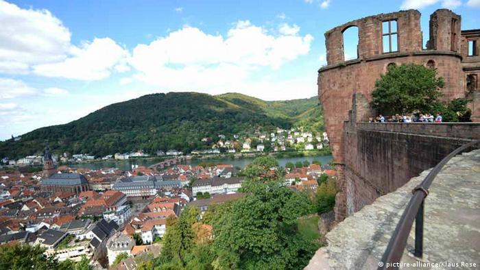 Heidelberg, Blick vom Schloss - Foto: Klaus Rose (dpa)