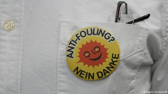 Anstecker Antifouling - nein, danke! (Foto: Rainer Dückerhoff).