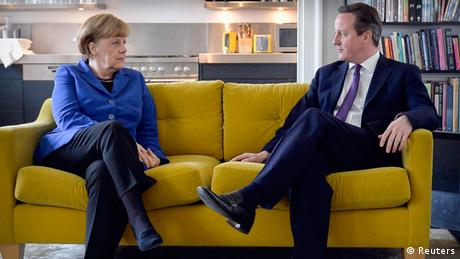 Angela Merkel und David Cameron in London