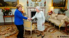 Angela Merkel und die Queen in London