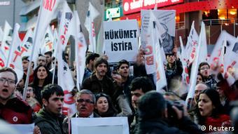 Aπό πρόσφατες διαδηλώσεις στην Κων/πολη κατά της κυβέρνησης Ερντογάν
