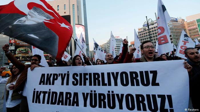 Proteste in Istanbul gegen die Regierung von Erdogan (Foto: Reuters)