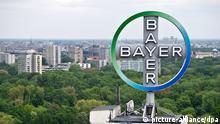 Logo Bayer AG Werk in Leverkusen