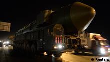 Russland Topol-M Rakete in der Nähe von Moskau 28.02.2014