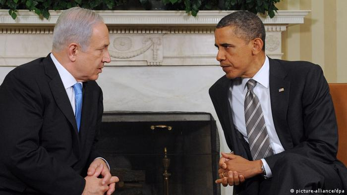 Obama and Netanyahu Photo: EPA/MICHAEL REYNOLDS