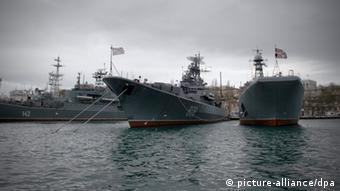 Schiffe der russischen Schwarzmeerflotte auf der Krim (Foto: picture-alliance/dpa)