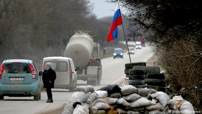 Ukraine Konflikt Krim Checkpoint