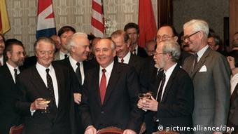 Audioslideshow Helmut Kohl Kohl Zwei-plus-Vier-Mächte Schewardnadse