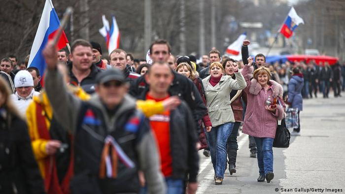 Proruske demonstracije u Simferopolju na Krimu