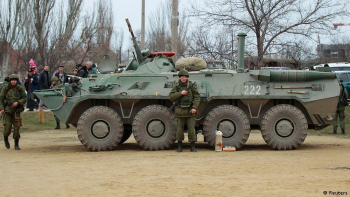 Militär auf der Krim. (Foto: Reuters)