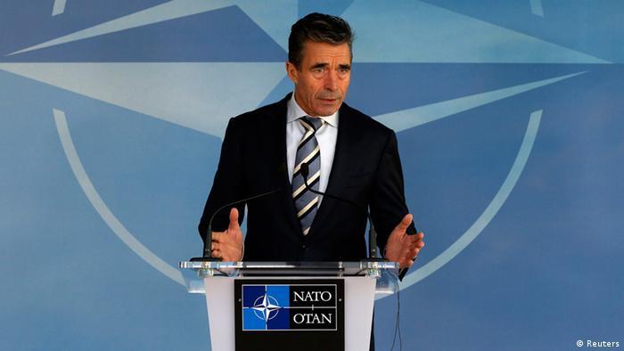 Anders Fogh Rasmussen NATO Russland Ukraine Krise Pressekonferenz