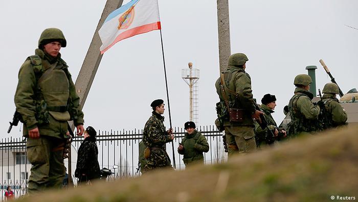 Ukraine Krim bewaffnetes Personal