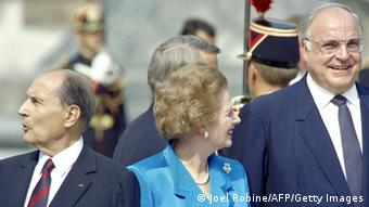 Audioslideshow Helmut Kohl Margaret Thatcher (Joel Robine/AFP/Getty Images)