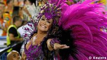 Actress Susana Vieira of the Grande Rio samba school participates in the annual Carnival parade in Rio de Janeiro's Sambadrome, March 2, 2014. REUTERS/Sergio Moraes (BRAZIL - Tags: ENTERTAINMENT SOCIETY)