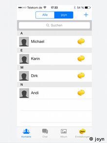 Screenshot 1 Jahr Smartphone App joyn