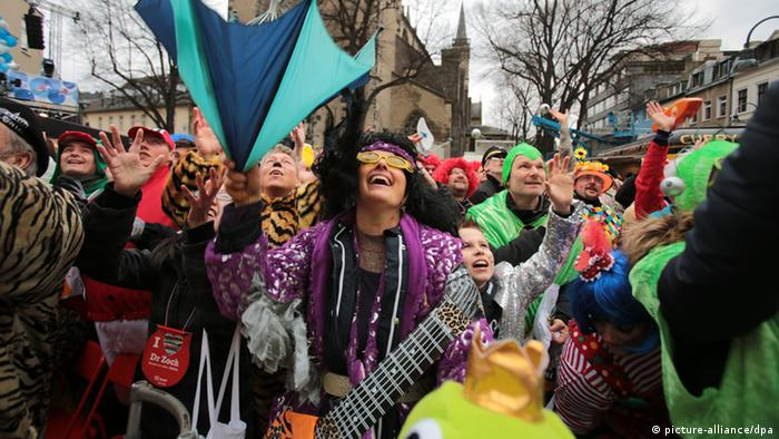 Carnival crowd in Cologne