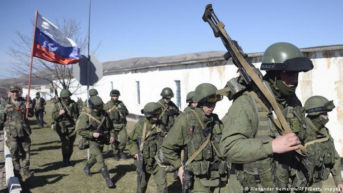 Российские военные в Крыму. Март 2014 года