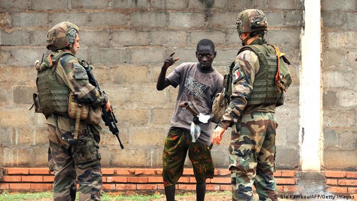 French troops in Central Africa