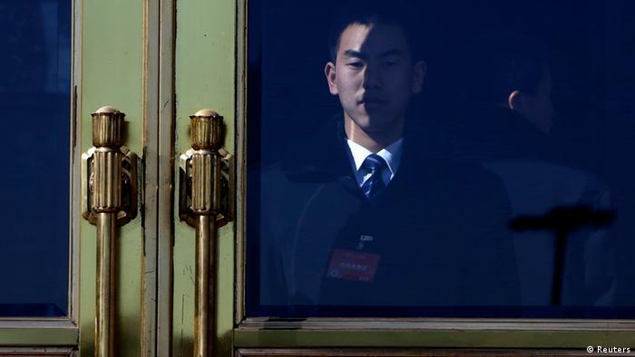Peking Große Halle der Menschen Halle des Volkes China Nationaler Volkskongress Wache Soldat