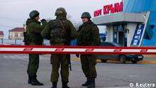 Krim Ukraine Russland Konflikt Soldaten Militärbasis Ukraine