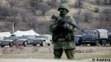 Krim Ukraine Russland Konflikt Soldaten 4.3.14