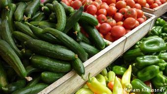 Gemüse ohne Verpackung (Foto: DW/Miriam Klaussner).