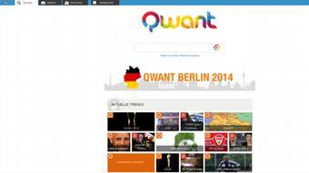 Screenshot Suchmaschine Qwant