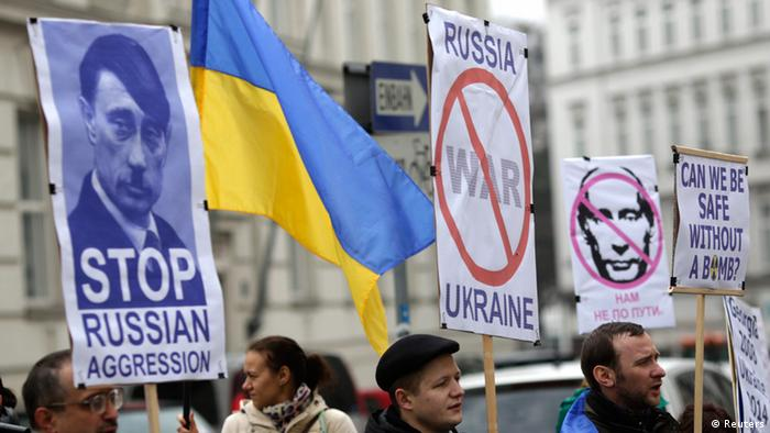 The Ukrainian community in Vienna protest against Putin and Russia 04.03.2014