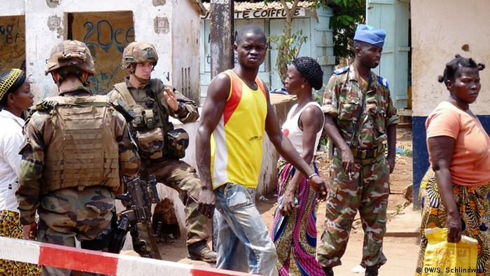 French Soldiers on the streets of Bangui