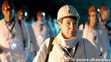 Bundesumweltministerin Barbara Hendricks (SPD) besucht am 04.03.2014 in Remlingen (Niedersachsen) das Atommüll-Lager Asse. Foto: Jochen Lübke/dpa
