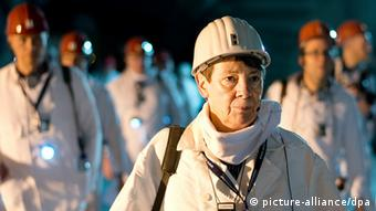 Barbara Hendricks inspects a nuclear waste site